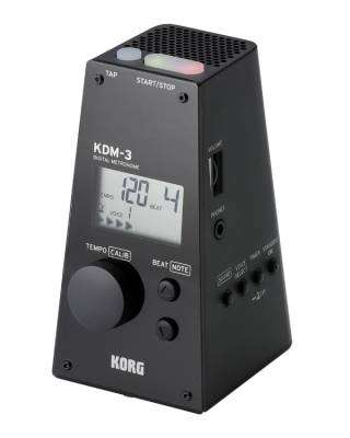 KDM-3 Quartz Metronome w/Volume & Rhythms - Black