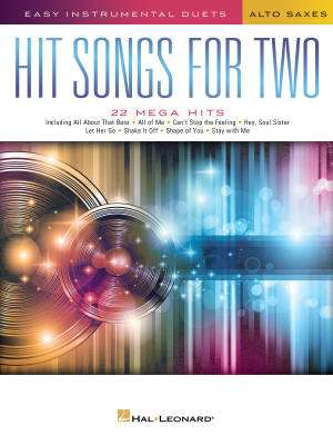 Hit Songs for Two Alto Saxes - Book