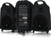 Behringer - PPA2000BT 2000W 8-Channel Portable PA System w/ FX and Bluetooth