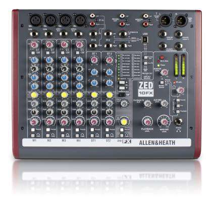 ZED-10FX - 10 Channel Live/Recording Mixer with USB & FX