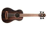 Kala - Acoustic/Electric U-Bass with Round Wounds - Striped Ebony