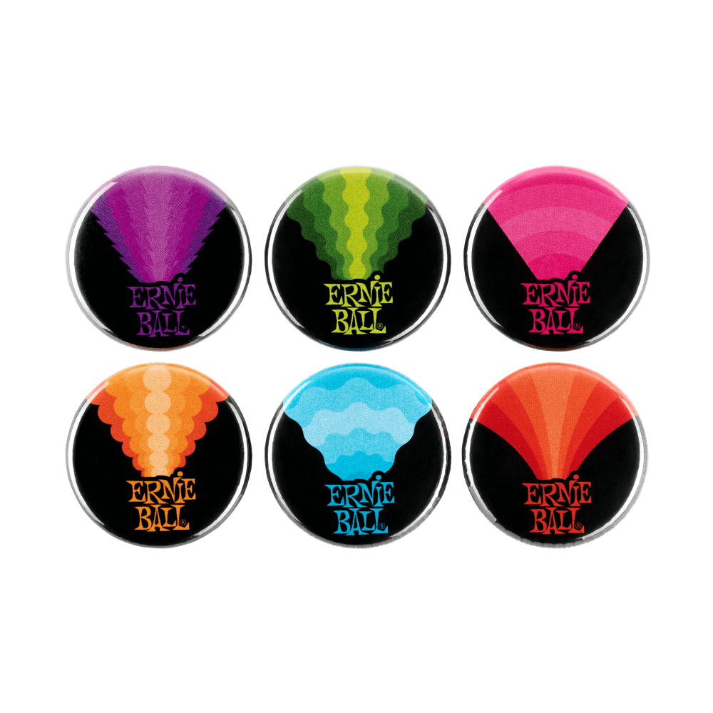 d138637f5f9 Ernie Ball Colors Of Rock N Roll 1   Assorted Buttons - 6 Pack - Long    McQuade Musical Instruments