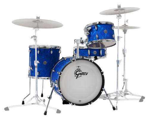 Catalina Club Jazz 4-Piece Shell Pack 18/14/12/Snare - Blue Satin Flame