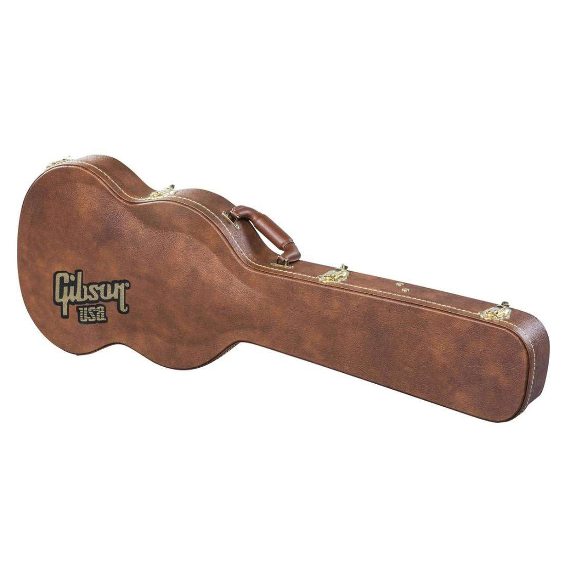 gibson sg case historic brown long mcquade musical instruments. Black Bedroom Furniture Sets. Home Design Ideas