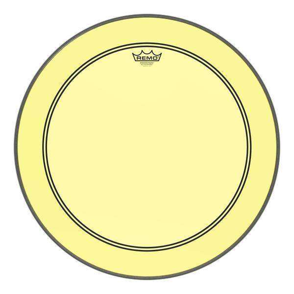 remo powerstroke p3 colortone yellow bass drumhead 24 39 39 long mcquade musical instruments. Black Bedroom Furniture Sets. Home Design Ideas