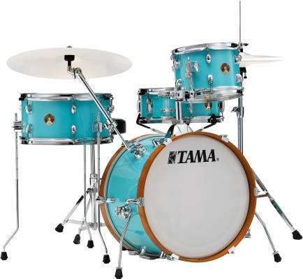 Club Jam 4-Piece Drum Kit w/Hardware and Throne - Aqua Blue