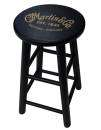 Martin Guitars - 24 Wooden Bar Stool with Gold Logo - Black