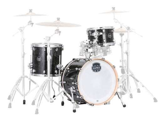 Saturn V Tour 3-Piece Shell Pack (22,12,16) - Black Pearl