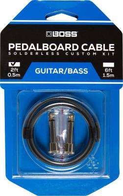 Solderless Pedalboard Cable Kit w/2 Connectors, 2 ft Cable