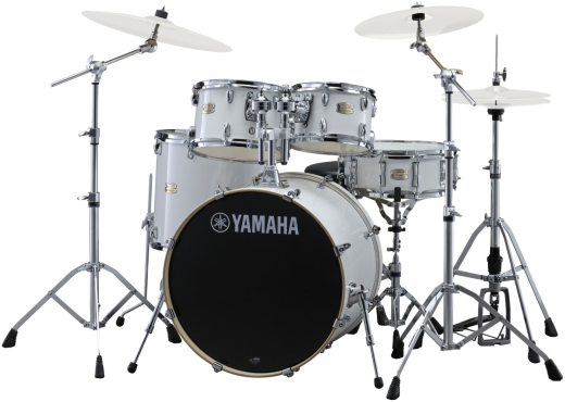 Stage Custom Birch 5-Piece Drum Kit (22,10,12,16, Snare) w/Hardware - Pure White