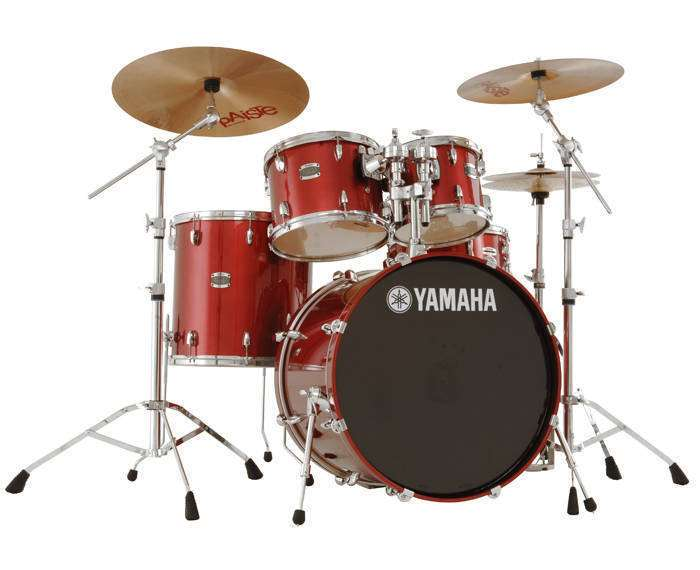 Cheapest Acoustic Drum Set : yamaha stage custom 5 piece drum kit with hardware cranberry red long mcquade musical ~ Vivirlamusica.com Haus und Dekorationen