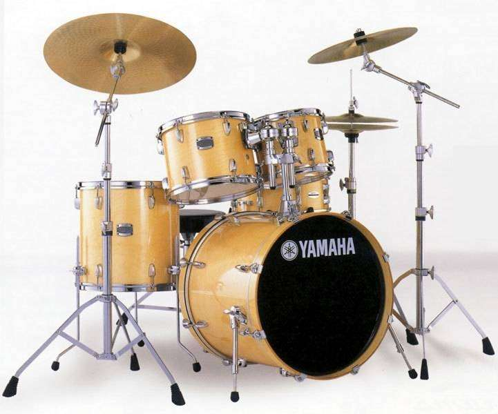 yamaha stage custom 5 piece drum kit with hardware natural wood long mcquade musical. Black Bedroom Furniture Sets. Home Design Ideas