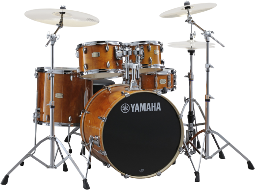Stage Custom Birch 5-Piece Drum Kit (22,10,12,16, Snare) w/Hardware - Honey Amber