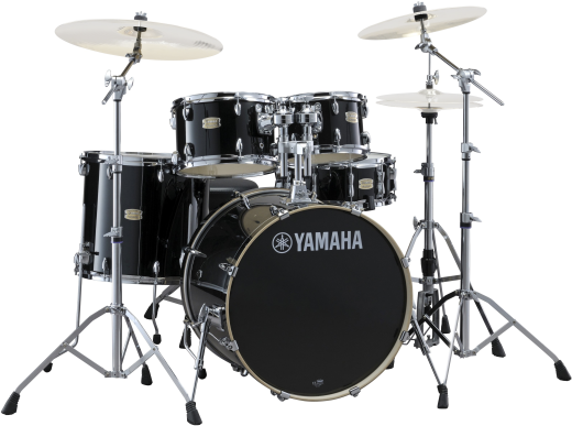 Stage Custom Birch 5-Piece Drum Kit (22,10,12,16, Snare) w/Hardware - Raven Black