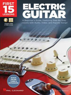 First 15 Lessons: Electric Guitar - Nelson - Book/Media Online