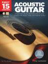 Hal Leonard - First 15 Lessons: Acoustic Guitar - Nelson - Book/Media Online
