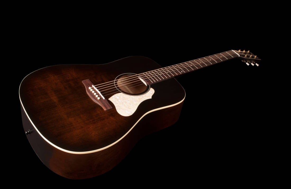 Simon And Patrick Songsmith Dreadnought - Faded Bourbon Burst - Long &  McQuade Musical Instruments