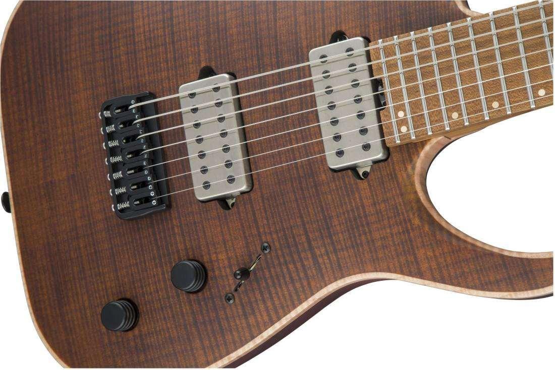 jackson guitars usa signature misha mansoor juggernaut ht7fm satin amber tiger eye long. Black Bedroom Furniture Sets. Home Design Ideas