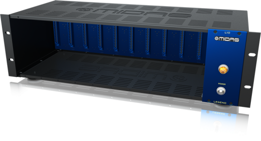 LEGEND L10 500 Series Rackmount Chassis for 10 Modules with Advanced Audio Routing