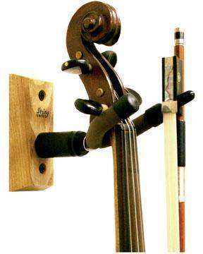 String Swing Wall Mount Violin Hanger Oak Long