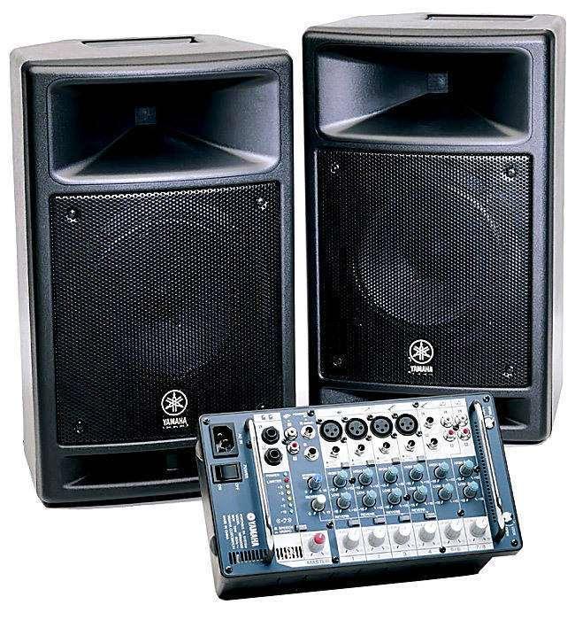 Yamaha stagepas300 300 watt pa system long mcquade for Yamaha sound system