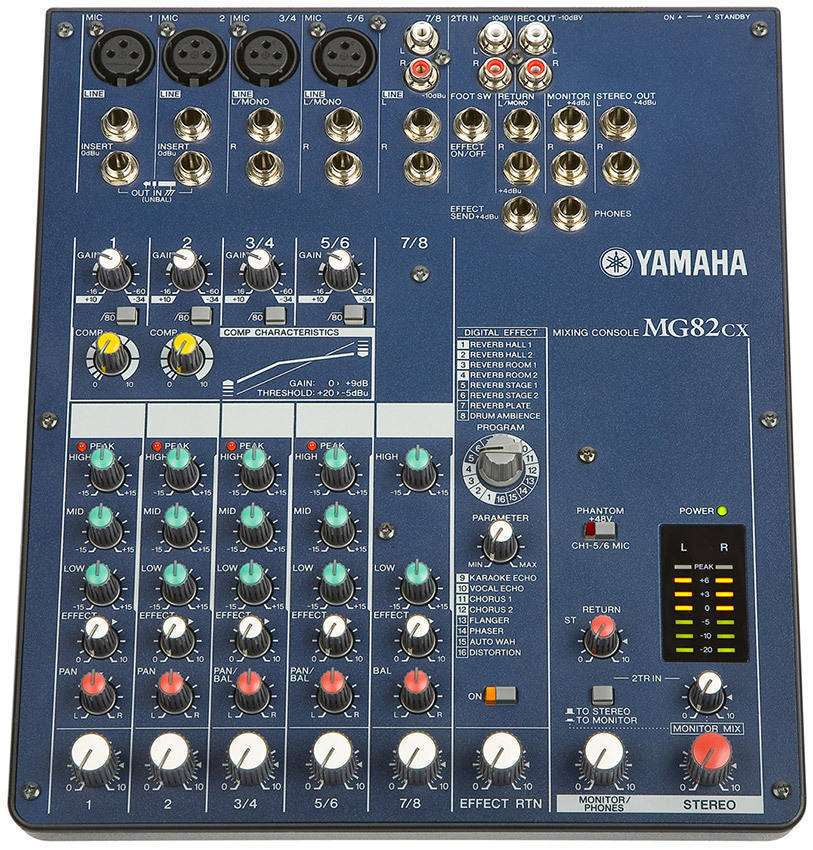 Yamaha Mg82cx 8 Channel Mixer Long Amp Mcquade Musical