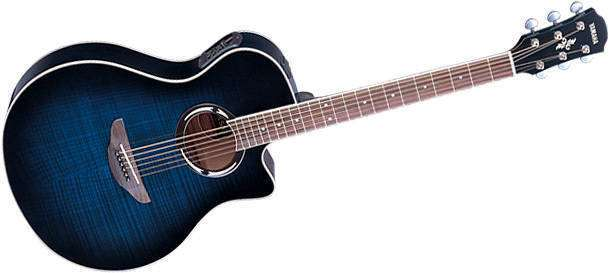yamaha apx500 thinline acoustic electric guitar blue long mcquade musical instruments. Black Bedroom Furniture Sets. Home Design Ideas