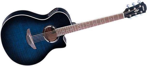 Yamaha Apx500 Thinline Acoustic Electric Guitar Blue