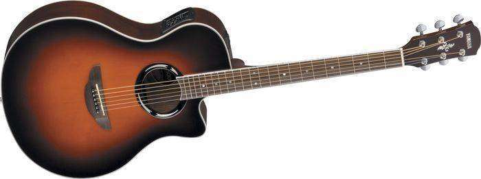 yamaha apx500 thinline acoustic electric guitar violin burst long mcquade musical. Black Bedroom Furniture Sets. Home Design Ideas