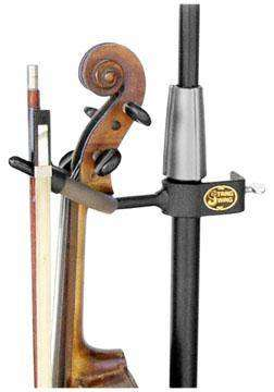 Violin / Mandolin Hanger, Clips onto Mic Stands