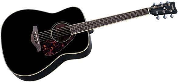 yamaha fg720s - acoustic guitar - black - long & mcquade musical