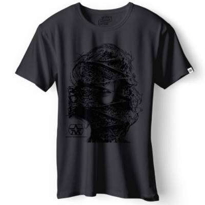 T-Shirt Face Dark Grey - Large