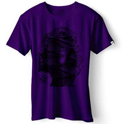T-shirt Face Purple - Medium