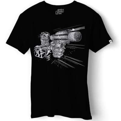 T-shirt Raygun Black - Small