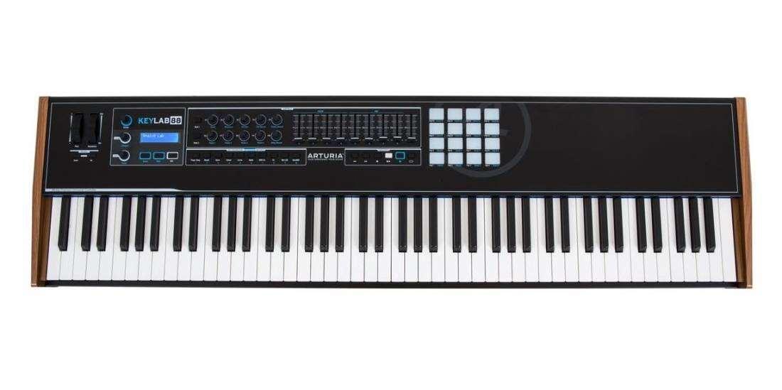 arturia keylab 88 black edition 88 key midi keyboard controller long mcquade musical instruments. Black Bedroom Furniture Sets. Home Design Ideas