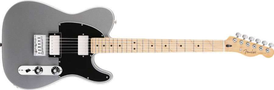 Fender Telecaster Hh >> Blacktop Tele Hh Maple Neck In Silver
