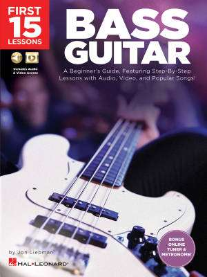 First 15 Lessons: Bass Guitar - Liebman - Book/Media Online