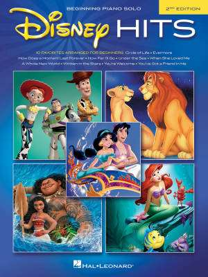 Disney Hits (2nd Edition) - Beginning Piano - Book