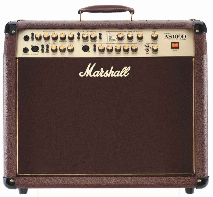 marshall as100d 2x50w 4 channel acoustic amp long mcquade musical instruments. Black Bedroom Furniture Sets. Home Design Ideas
