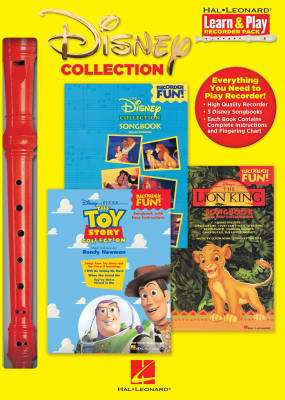 Disney Collection: Learn & Play Recorder Pack - 3 Books/Recorder