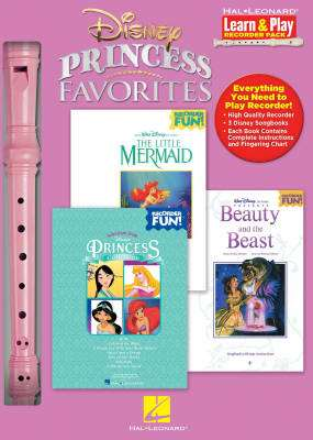 Disney Princess Favorites: Learn & Play Recorder Pack - 3 Books/Recorder