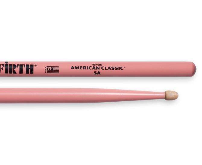 69766cc491 Vic Firth 5A American Classic (Hickory Wood Tip) - Pink - Long   McQuade  Musical Instruments