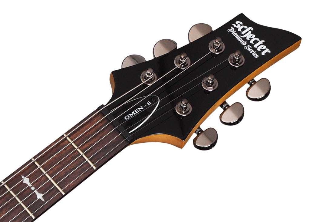 schecter omen 6 electric guitar walnut satin long mcquade musical instruments. Black Bedroom Furniture Sets. Home Design Ideas