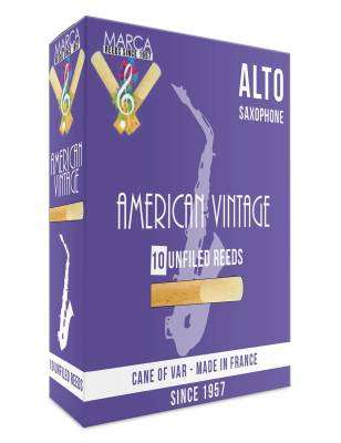 American Vintage Alto Sax Reeds, 2 Strength - Box of 10