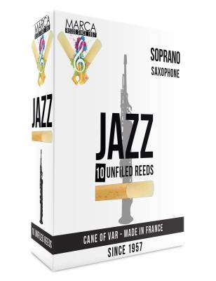 Jazz Unfiled Soprano Sax Reeds, 2 Strength - Box of 10
