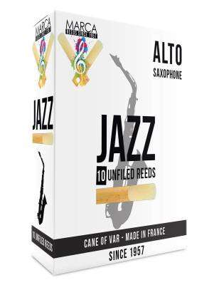 Jazz Unfiled Alto Sax Reeds, 2 Strength - Box of 10