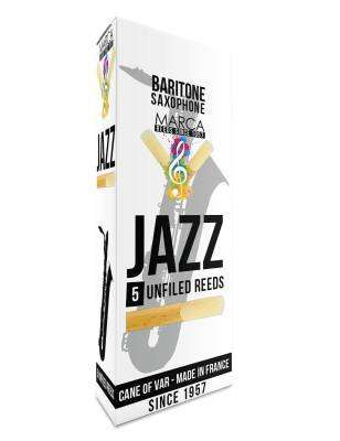 Jazz Unfiled Baritone Sax Reeds, 2 Strength - Box of 5