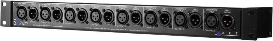 8-Channel 3-Way Mic Slpitter