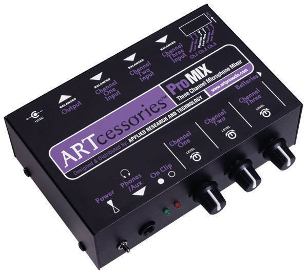 art pro audio 3 channel battery ac powered mini mixer long mcquade musical instruments. Black Bedroom Furniture Sets. Home Design Ideas