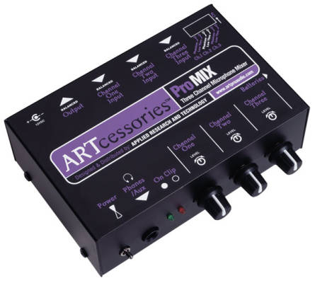 3-Channel  Battery/AC-Powered Mini Mixer